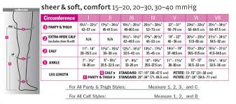 Mediven Size Chart Mediven Comfort Womens Closed Toe Pantyhose Accucare Canada