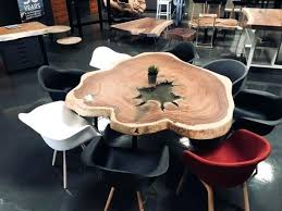 full size of natural edge wood slab dining table round x kitchen cool roun walnut timber