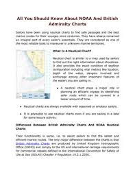 All You Should Know About Noaa And British Admiralty Charts