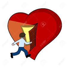 creative ilration of a heart with open door vector stock vector 49820999