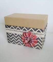 Decorative Recipe Box Photo Box Recipe Box Jewelry Box Decorative Box by GertiesAttic100 59