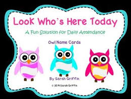 Whos Here Today Chart Tired Of Calling Names Everyday When Taking Attendance Use