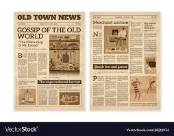 Old West Newspaper Template Retro Newspaper Daily News Articles Yellow