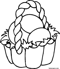 Free Printable Coloring Pages Easter Basket The Color Panda