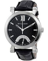 shop men s bvlgari watches from 2280 lyst bvlgari bvlgari men s sotirio retrograde date watch lyst