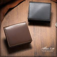 l semi aniline leather type box coin purse leather wallet made in