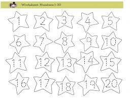 Tracing Numbers 1 20 Worksheets Worksheets for all | Download and ...