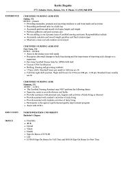 Certified Nursing Assistant Resume Examples Amazing Certified Nursing Aide Resume Samples Velvet Jobs
