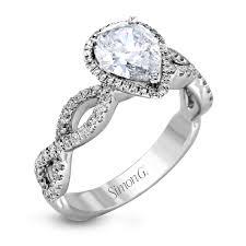 infinity band engagement ring. mr1596 engagement ring (custom) infinity band