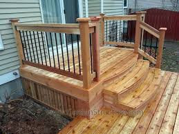 Best 25  Deck stair railing ideas on Pinterest   Outdoor stair besides  besides  in addition  moreover 100s of Deck Railing Ideas and Designs likewise  additionally Best 25  Outdoor stair railing ideas on Pinterest   Deck stair further Front Porch Stair Railing Kit furthermore How to Build a Deck  Wood Stairs and Stair Railings in addition  also . on deck step railing ideas
