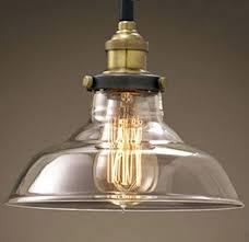 edison bulb hanging light fixture loft pendant lights glass bowl lamp with regard to designs 2