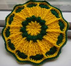 Free Crochet Potholder Patterns Simple Sandvicrochet Free Pattern Of Crochet Flower Pot Holder