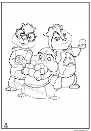 Small Picture Pin by Magic Color Book on Alvin and Chipmunks Coloring pages