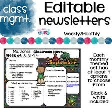 Weekly Newsletter Template Unique Editable Newsletters Templates By Teaching Superkids TpT
