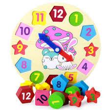 Купите <b>wooden blocks toys</b> digital geometry clock toy онлайн в ...