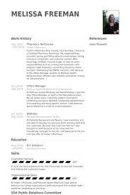 Pharmacy Technician Resume Samples Visualcv Resume Samples Database