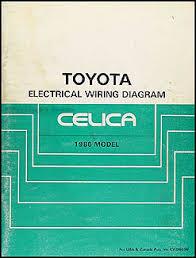 1986 toyota celica wiring diagram manual original