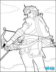 Small Picture Link coloring page from the famous Zelda video game More video