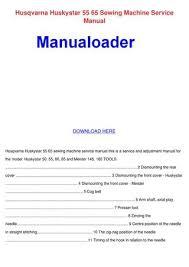 Viking Sewing Machine Manual Download