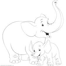 Mom And Baby Elephant Coloring Pages Mother Deer Coloring Creator