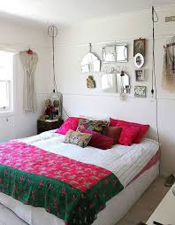 bedrooms wire pendants lights bright accent pillows and colourful bedding shape the shabby chic bedroom