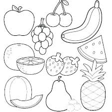 Coloring Pages Fruits And Vegetables Cornucopia Vegetables Printable