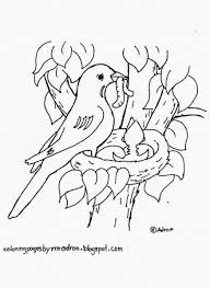Bird Nest Coloring Pages