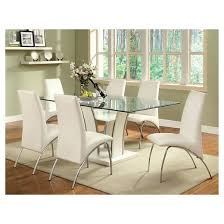 glass topped dining room tables. iohomes glass top open shelf base dining table wood/white topped room tables