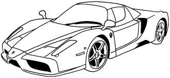 Coloring Race Car Coloring Pages