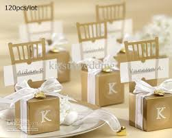 gift boxes for wedding favors. wedding favors gift boxes miniature gold chair favor box with heart charm and ribbon from kissulwedding, $15.07| dhgate.com for dhgate.com