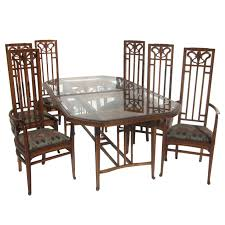 art nouveau style dining table and six chairs at 1stdibs art deco dining set