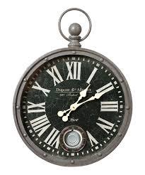 all gone black white pocket watch wall clock