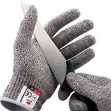 Nocry Cut Resistant Gloves Ambidextrous Food Grade High Performance Level 5 Protection Size Small Complimentary Ebook Included