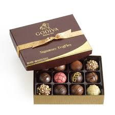 amazon iva chocolatier signature chocolate truffles gift box great for gifting gourmet chocolate 12 count thank you chocolate grocery