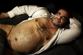 Big hairy bear belly