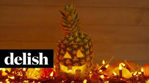 Halloween Hack Make A Pineapple Jack O Lantern Delish