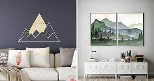 25 <b>Mountain Wall Art</b> Designs To Decorate Your Walls