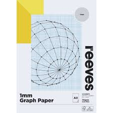 Reeves 1mm Graph Pad 70gsm 40 Sheets A3