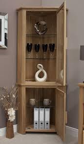 Inspiring Eton Solid Oak Living Room Furniture Corner Display With Corner  Cabinet Living Room White And ...