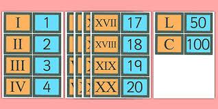 Free Ks2 Roman Numerals Matching Card Game Teacher Made
