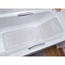 luxury cushioned white bath mat with integral pillow cushion spa head neck rest