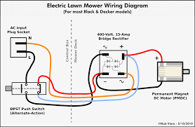 simple electric motor with switch. Simple Electrical Switch Wiring Diagram Nick Viera Electric Lawn Mower Information DIY Disc Motor With V