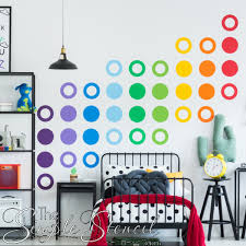 large colorful circle dot decals for