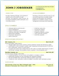 Resume Writing Format Interesting Gallery Of Professional Resume Templates Sample Free Samples