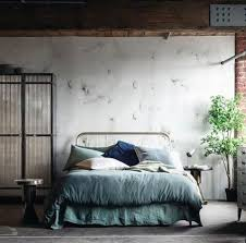 bedroom with blue comfortable