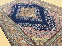 details about 4 10 x 7 5 blue pink turkish kayseri oriental area rug hand knotted wool