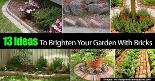 garden with bricks
