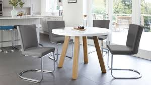 white round kitchen table. grey and white gloss round dining set kitchen table