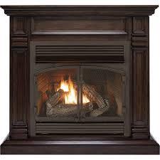 procom dual fuel vent free fireplace 32 000 btu chocolate finish model