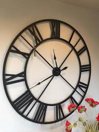 gorgeous inspiration black wall clocks modern decoration design large metal outline skeleton clock mulberry moon uk australia